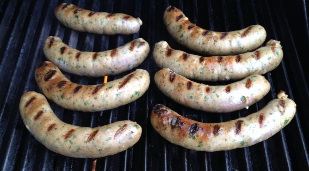 Chimichurri turkey sausage
